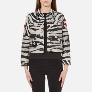 Marc Jacobs Women's Zebra Shrunken Jacket - White