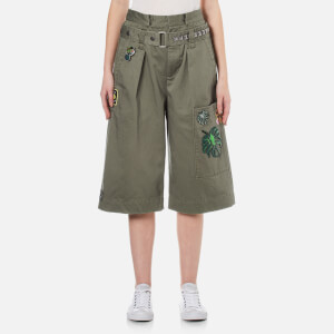 Marc Jacobs Women's Long Cargo Shorts - Military Green
