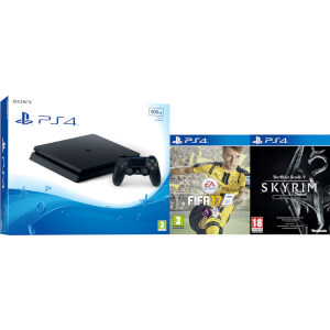 PlayStation 4 Slim 500GB Console with FIFA 17 & The Elder Scrolls V: Skyrim Special Edition