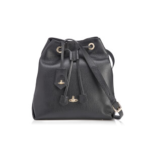 Vivienne Westwood Women's Balmoral Grain Leather Bucket Bag - Black