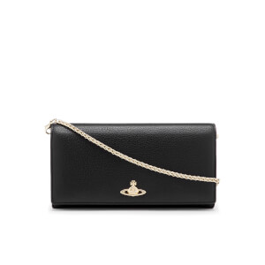Vivienne Westwood Women's Balmoral Grain Leather Long Wallet with Chain - Black