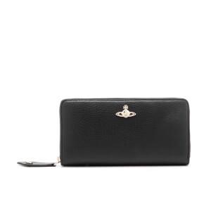 Vivienne Westwood Women's Balmoral Grain Leather Zip Around Wallet - Black