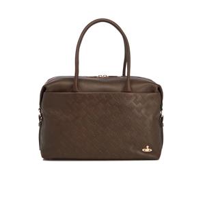 Vivienne Westwood Women's Harrow Embossed Leather Large Shoulder Bag - Green
