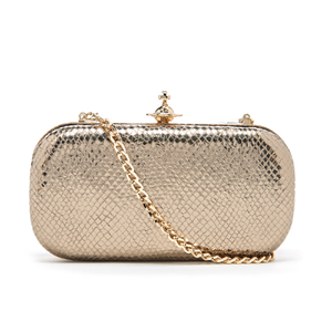 Vivienne Westwood Women's Verona Metallic Leather Clutch Bag - Gold