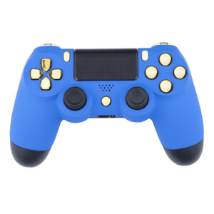 Manette CUstom PlayStation 4 -Bleu Velours et Or