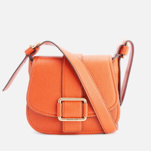 MICHAEL MICHAEL KORS Women's Maxine Mid Saddle Bag - Orange