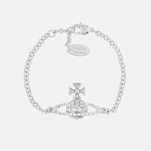 Vivienne Westwood Women's Mayfair Bas Relief Bracelet - Crystal/Rhodium