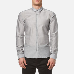 HUGO Men's Ero3 Long Sleeve Shirt - Open Grey