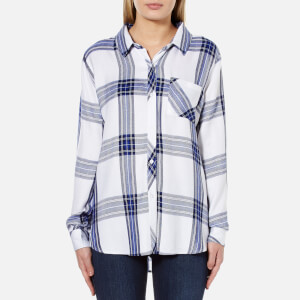 Rails Women's Hunter Shirt - Bone/Cobalt
