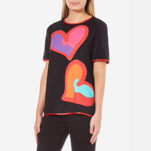 Boutique Moschino Women's Big Heart T-Shirt - Black