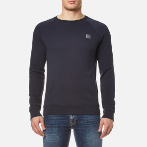 BOSS Orange Men's Wheel Crew Neck Sweatshirt - Dark Blue