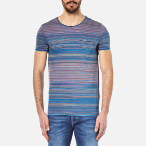 BOSS Orange Men's Tedryk Striped T-Shirt - Open Blue