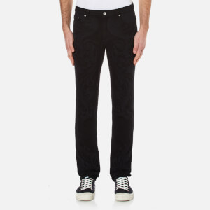 Versace Collection Men's All Over Print Jeans - Black