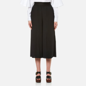 MM6 Maison Margiela Women's Elasticated Wait Culottes - Black