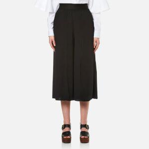 MM6 Maison Margiela Women's Elasticated Wait Culottes - Black