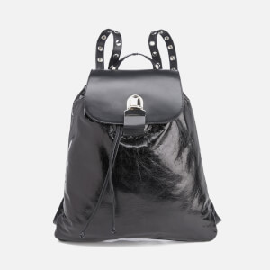 MM6 Maison Margiela Women's Backpack with Popper Detail - Black