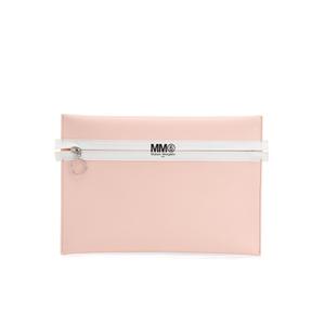 MM6 Maison Margiela Women's Logo Clutch Bag - Ballerina Rose