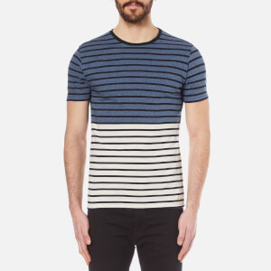 Armor Lux Men's Bicolour T-Shirt - Cicione/Lana/Rich Navy