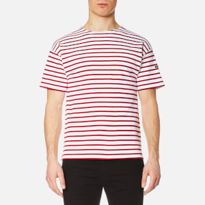 Armor Lux Men's Doelan T-Shirt - White/Dark Red