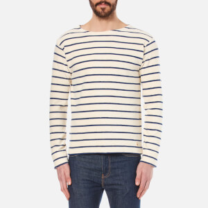 Armor Lux Men's Terry Stripe Top - Nature/Oceano