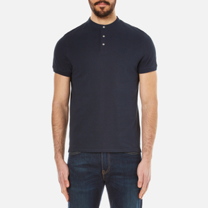 Selected Homme Men's Drody Short Sleeve Polo Shirt - Dark Sapphire