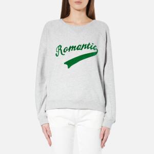 Maison Scotch Women's Crew Neck Sweatshirt with Varsity Inspired Graphics - Grey
