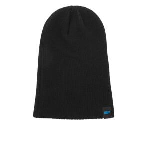 Удлиненная шапка-бини, черная