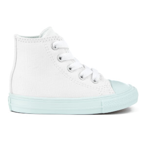 Converse Toddlers' Chuck Taylor All Star II Hi-Top Trainers - White/Fiberglass