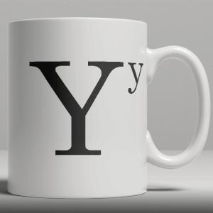 Alphabet Keramik Designer Tasse - Buchstabe Y