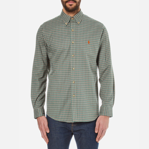 Polo Ralph Lauren Men's Long Sleeved Checked Shirt - Myrtle Green