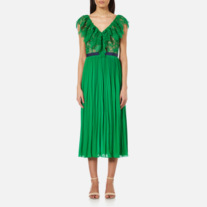 Three Floor Women's Dress Code Dress - Emerald/Nude