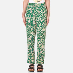 Ganni Women's Dalton Crepe Pants - Green