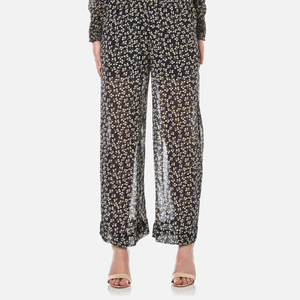 Ganni Women's Newman Georgette Trousers - Total Eclipse