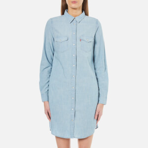 Levi's Women's Iconic Western Dress - Grunge Blue