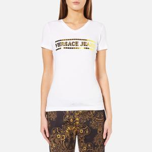Versace Jeans Women's Logo T-Shirt - Bianco