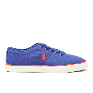 Polo Ralph Lauren Men's Halford Vulcanised Canvas Trainers - Spa Blue