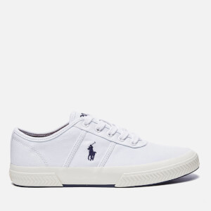 Polo Ralph Lauren Men's Tyrian Canvas Trainers - Pure White