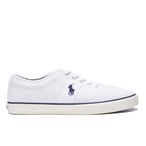 Polo Ralph Lauren Men's Halford Vulcanised Canvas Trainers - White