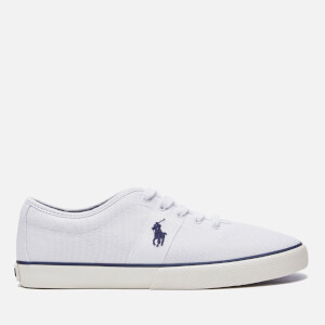 Polo Ralph Lauren Men's Halford Box Stitch Canvas Trainers - White