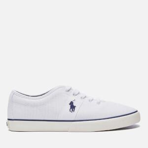 Polo Ralph Lauren Men's Halford Box Stitch Canvas Trainers - White