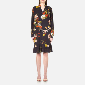 Gestuz Women's Cally Long Sleeve Dress - Multi Colour Flower