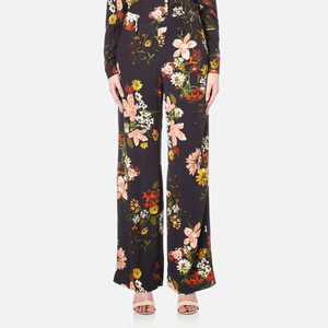 Gestuz Women's Cally Floral Print Wide Leg Trousers - Multi Colour Flower