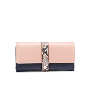 Dune Women's Karys Snake Long Purse - Navy