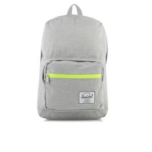 Herschel Supply Co. Pop Quiz Backpack - Light Grey Crosshatch/Acid Lime Zip