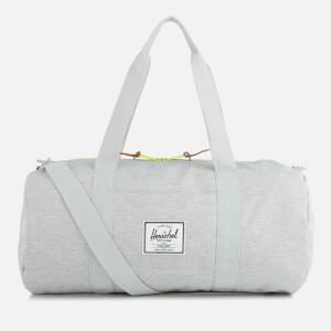 Herschel Supply Co. Sutton Mid-Volume Duffle Bag - Light Grey Crosshatch/Acid Lime Zip