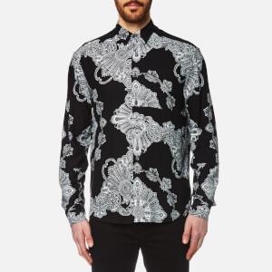 McQ Alexander McQueen Men's Sheehan Paisley Shirt - Black Scarf Paisley