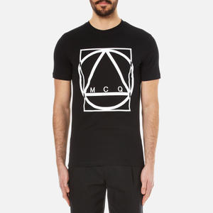McQ Alexander McQueen Men's Large Logo Crew Neck T-Shirt - Darkest Black