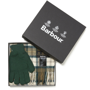 Barbour Scarf and Gloves Set - Ancient