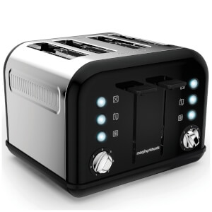 Morphy Richards 242031 Accents 4 Slice EPP Toaster - Black