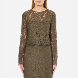 Diane von Furstenberg Women's Yeva Lace Top - Olive